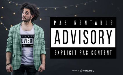 Pas Rentable Quote T-shirt Design