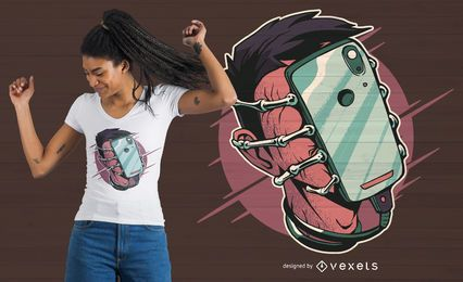 Diseño de camiseta Phone Facehugger