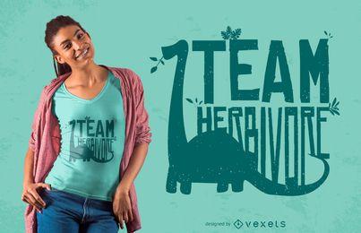 Team-Pflanzenfresser-Dinosaurier-Zitat-T-Shirt Entwurf