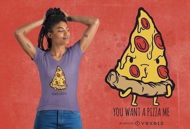 Diseño de camiseta de pedazo de pizza