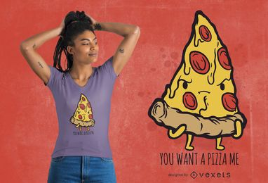 Pedaço de design de camiseta de pizza