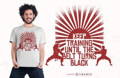 Continue treinando o design da camiseta