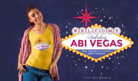 Design de camiseta Abi Vegas