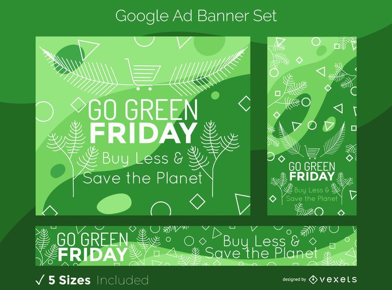 Green Friday Google Ads Banner Set