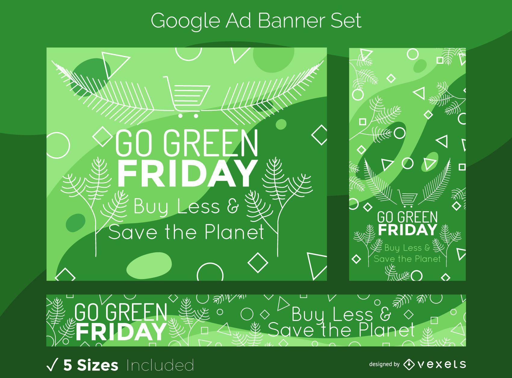 Green Friday Google Ads Banner Set