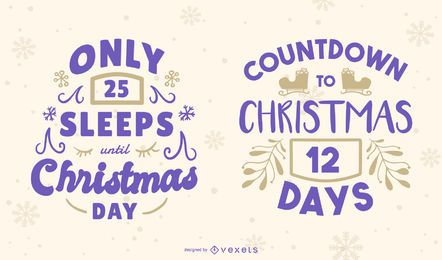 Christmas Countdown Editable Banner Set