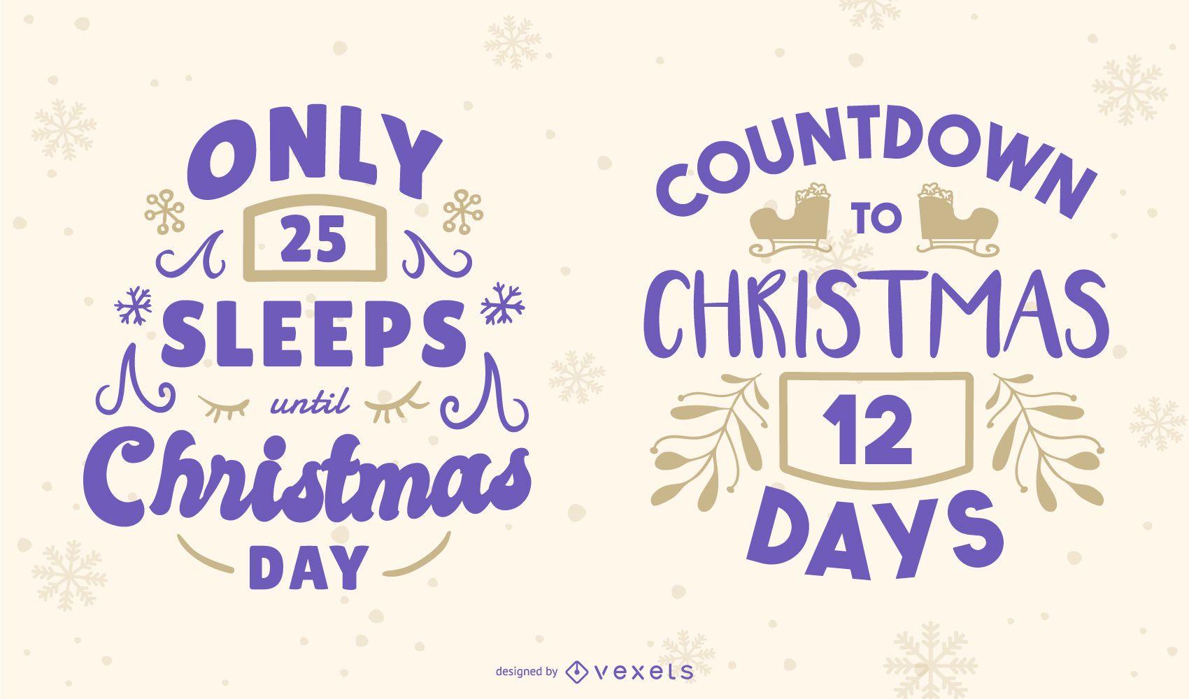 Christmas Countdown Editable Banner Set
