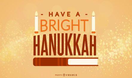 Diseño de banner de cita de libro de Hanukkah