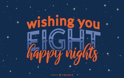 Citação de Hanukkah noite Banner Design
