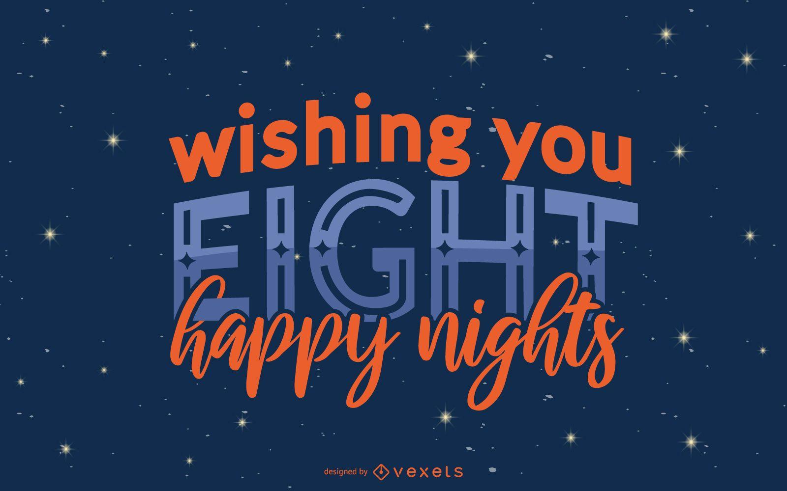 Hanukkah Night Quote Banner Design