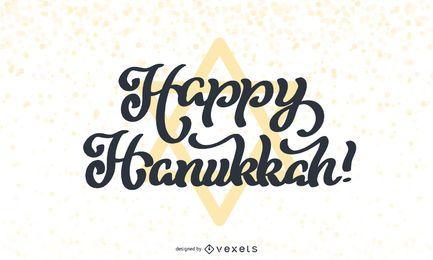 Feliz Hanukkah Lettering Design