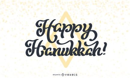 Happy Hanukkah Lettering Design