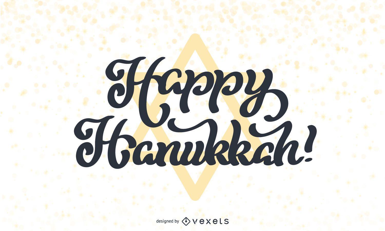 Feliz diseño de letras de Hanukkah