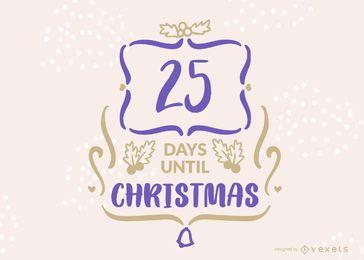 Design de banner de contagem regressiva de Natal editável