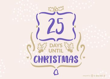 Editable Christmas Countdown Banner Design