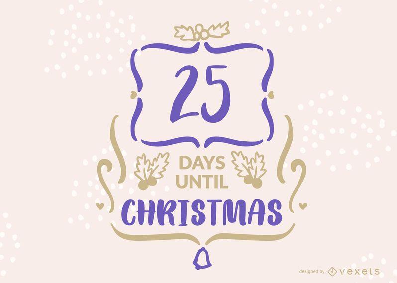 Editable Christmas Countdown Banner Design