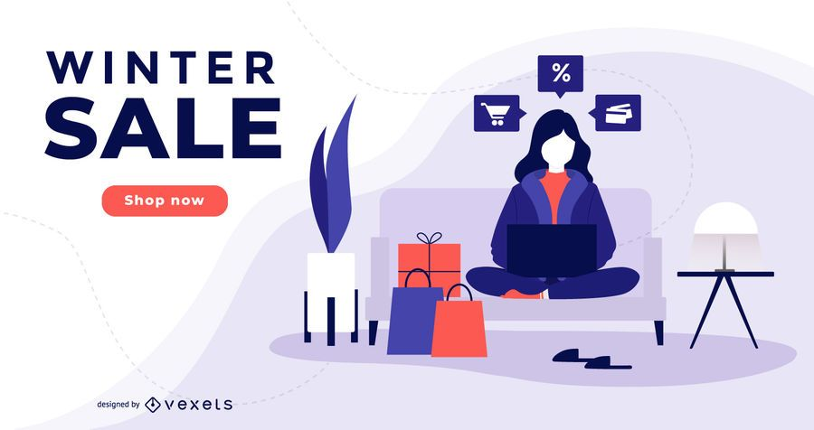 Winter Sale Marketing Banner Design