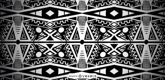 Diseño de patrón africano en blanco y negro