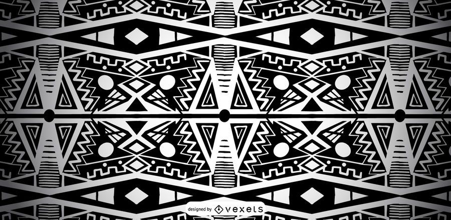 African Black and White Pattern Design