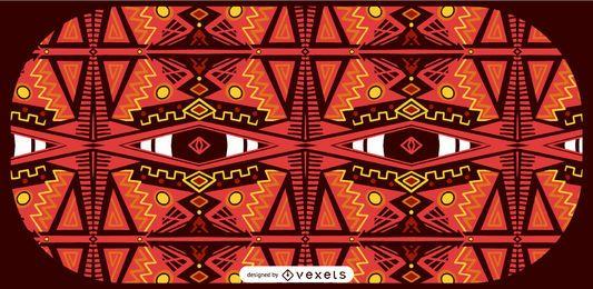 Afrikanischen Stil Musterdesign