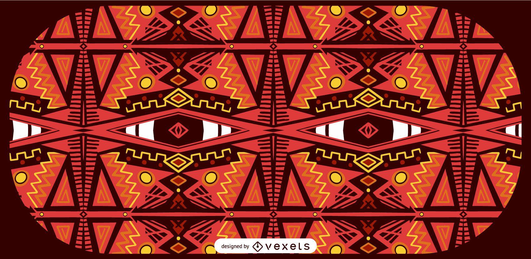 Diseño de patrón de estilo africano