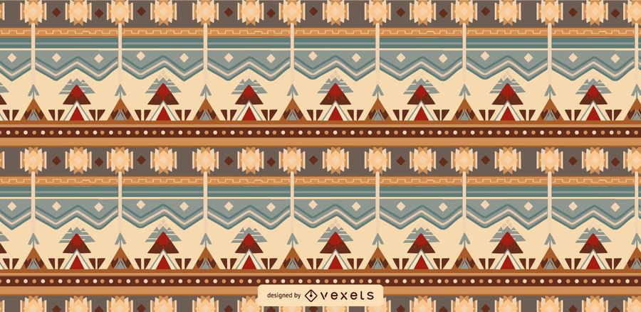 Diseño de patrón enlosable azteca