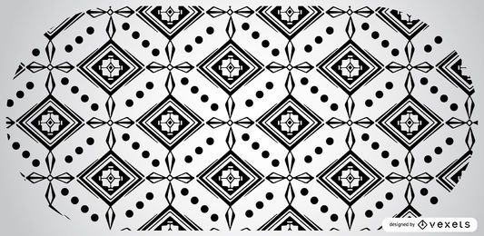 Black and White Aztec Pattern Design
