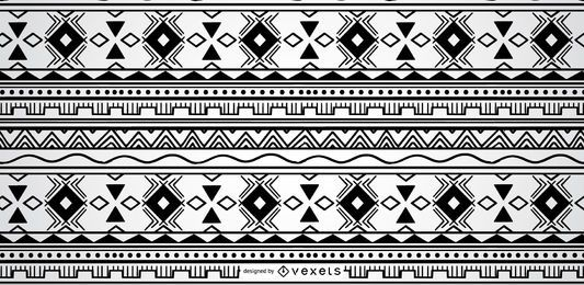 Geometric Aztec Pattern Design