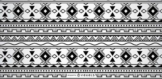 Geometrisches aztekisches Musterdesign