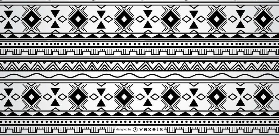 Geometric Aztec Pattern Design