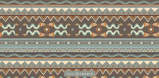 Aztec Colored Pattern Design