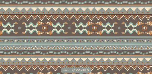 Design de padrão colorido asteca