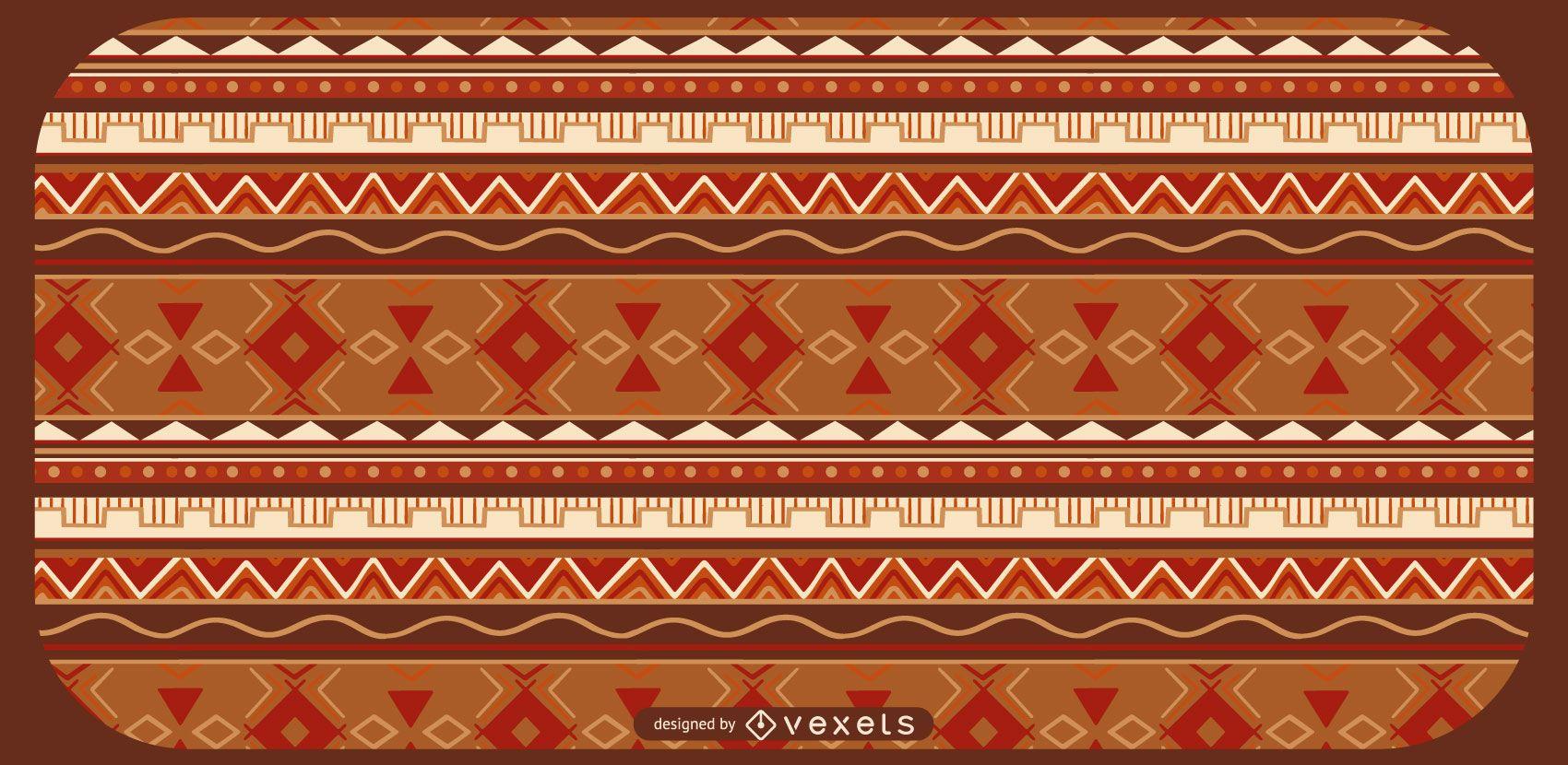 Diseño de patrón azteca rojo