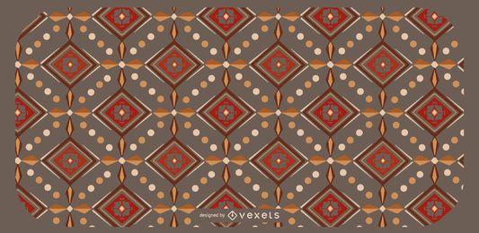 Design de padrão geométrico asteca