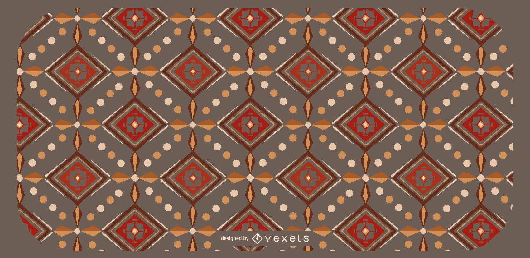 Diseño de patrón geométrico azteca