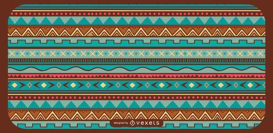Diseño geométrico del patrón azteca