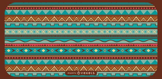 Geometrical Aztec Pattern Design