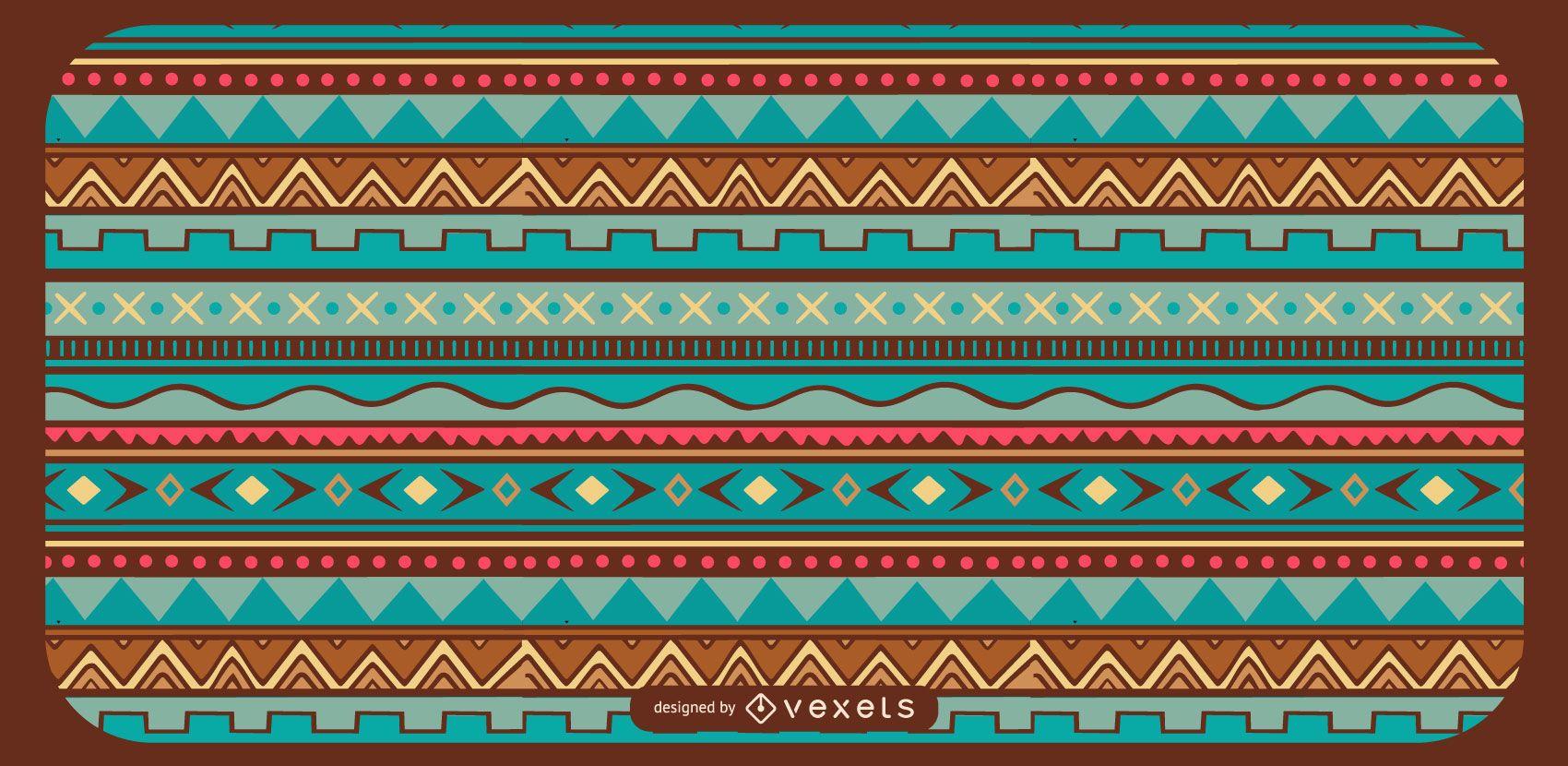 Geometrical Aztec Pattern Design