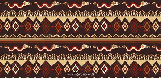 Design de padrão de estilo asteca