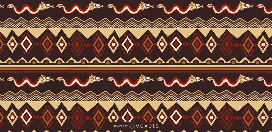 Diseño de patrón de estilo azteca