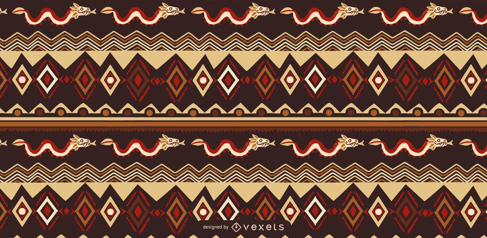 Aztec Style Pattern Design
