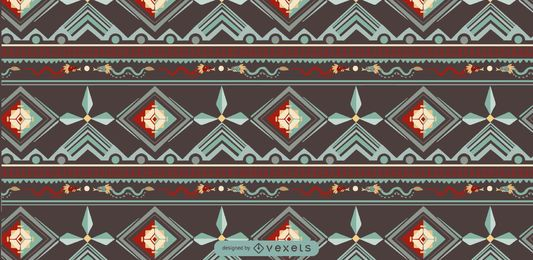 Aztec Indigenous Pattern Design