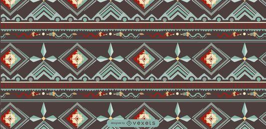 Diseño de patrón indígena azteca