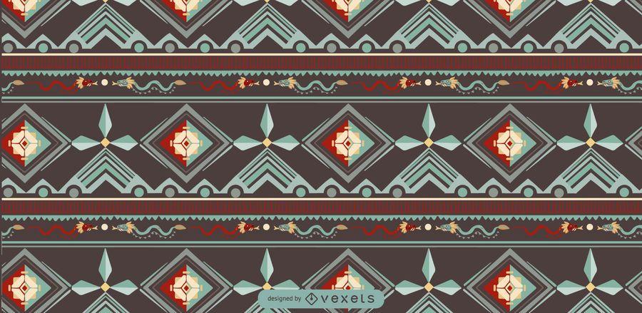 Aztec Indigenous Pattern Design