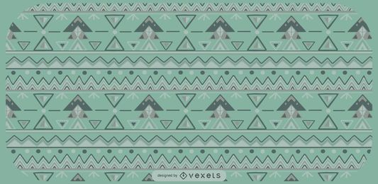 Aztec Triangle Shapes Pattern Design