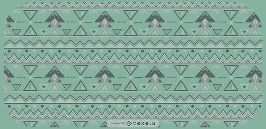 Diseño del patrón de formas triangulares aztecas