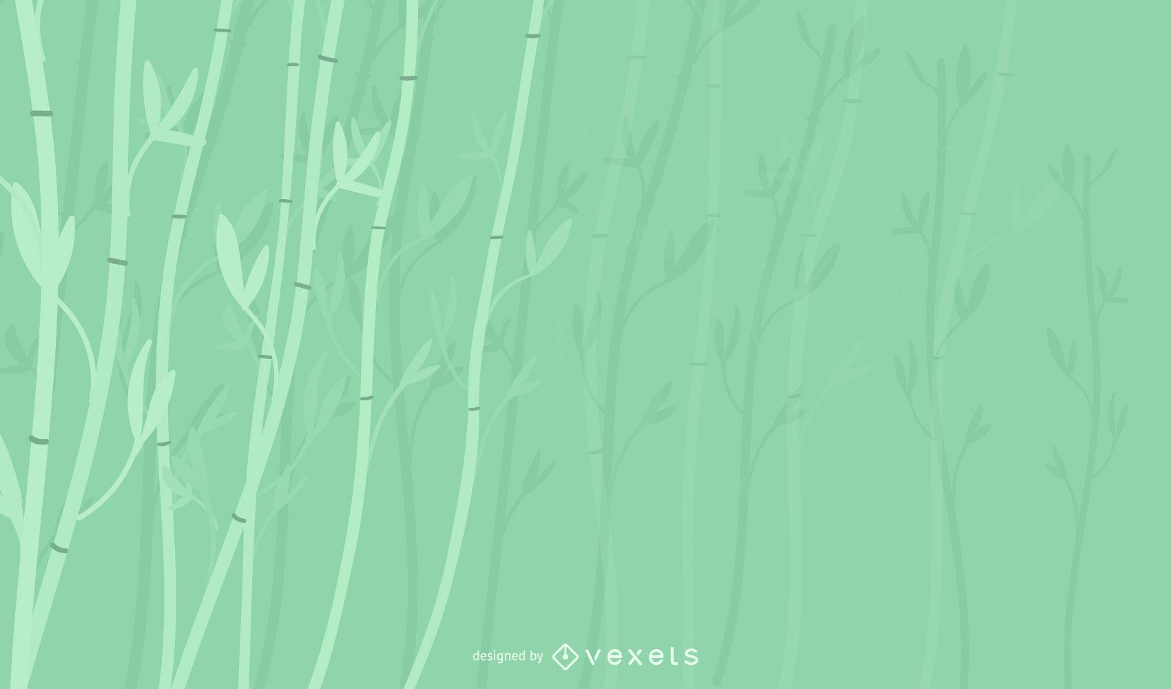 Diseño de fondo de planta de bambú