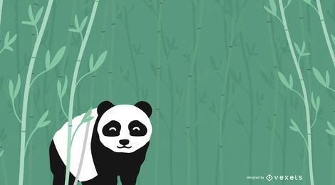 Bamboo Forest Panda Bear Background
