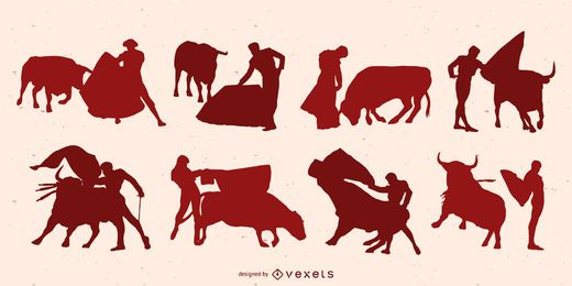 Bullfighter Silhouette Design Pack