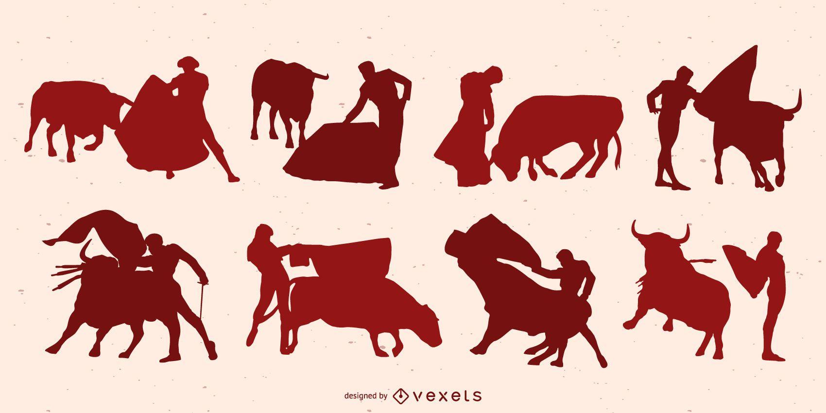 Bullfighter Silhouette Design Pack